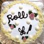 手作りロールのケーキ